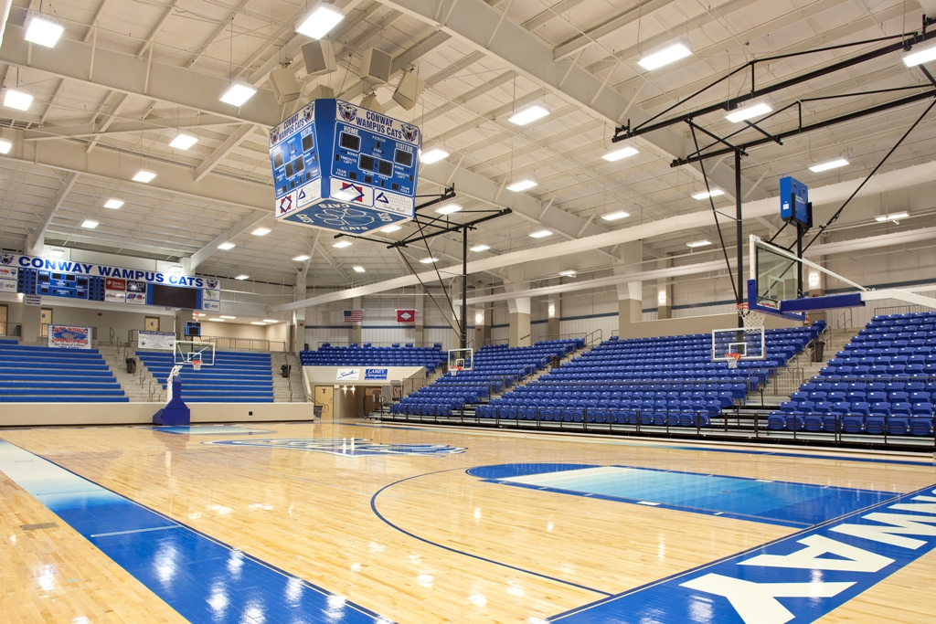What is the size of a basketball court high school for Basketball gym dimensions
